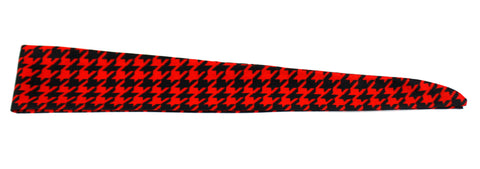 Tie Back Houndstooth Red Black (SKU 7517)