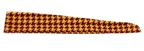 Tie Back Houndstooth Maroon Gold (SKU 7518)
