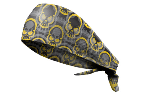 Tie Back Bonehead Black Yellow (SKU 7522)