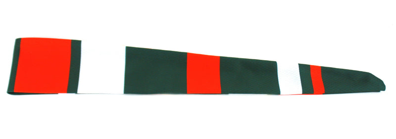Tie Back Vertical Stripes Green Orange (SKU 7529)