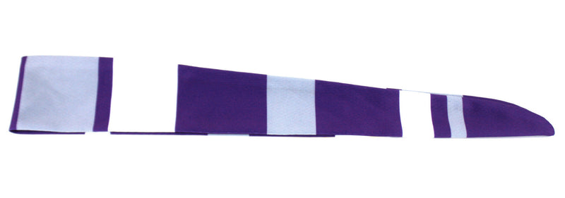 Tie Back Vertical Stripes Purple Grey (SKU 7530)