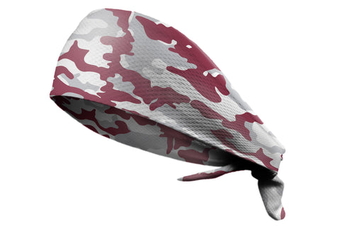 Tie Back Camo Burgundy Grey (SKU 7540)