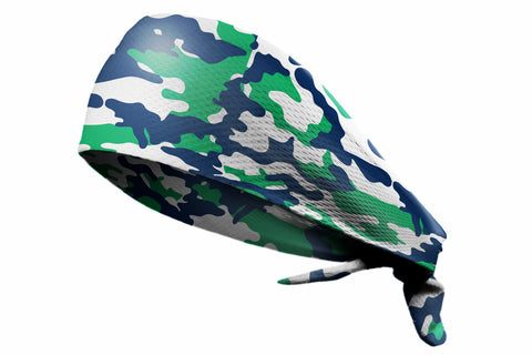 Tie Back Camo Green Navy (SKU 7543)