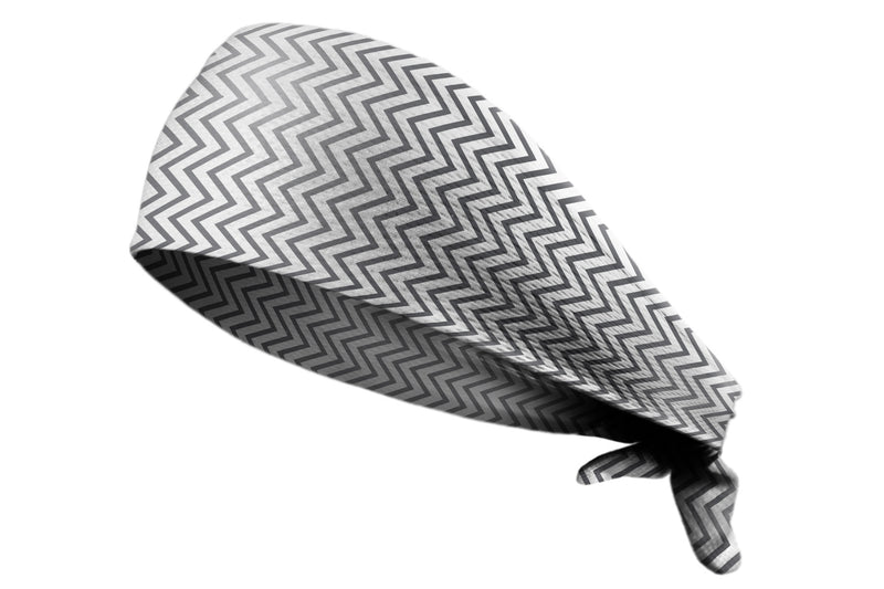 Tie Back Chevron Mini Charcoal Grey (SKU 7551)