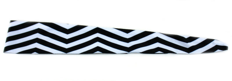 Tie Back Reversible Chevron Black Solid Black (SKU 7552)