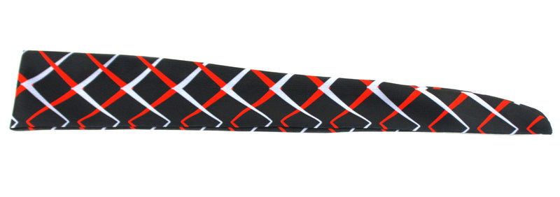 Tie Back Chainlink Scarlet Grey (SKU 7556)