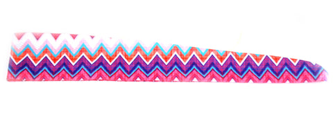 Tie Back Chevron Purple Pink Plaid (SKU 7570)