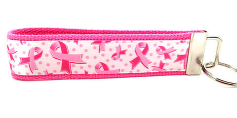 Breast Cancer Awareness White Keychain (SKU 1054 KC)