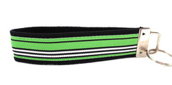 Stripes Black Green Keychain (SKU 1245 KC)