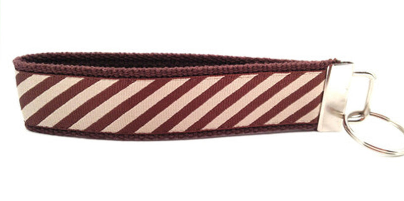 Stripes Brown Tan Keychain (SKU 1241 KC)
