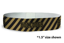 Loopty Loop Bulldogs Gold Balck Brella (Custom)
