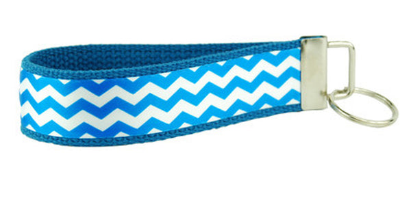 Chevron Royal Blue Keychain (SKU 1732 KC)