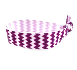 Chevron Purple Hair Tie (SKU 6001)