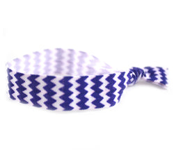 Chevron Royal Blue Hair Tie (SKU 6002)
