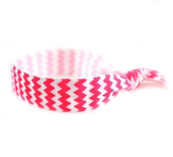 Chevron Hot Pink Hair Tie (SKU 6008)
