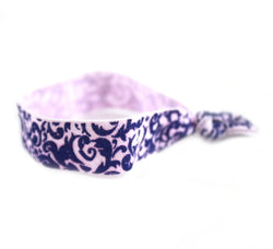 Floral Royal Blue Hair Tie (SKU 6017)