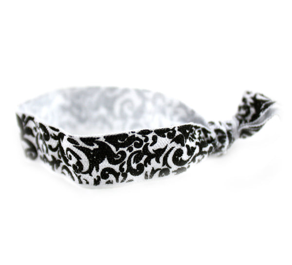 Floral Black Hair Tie (SKU 6018)
