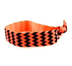 Chevron Black Orange Hair Tie (SKU 6023)