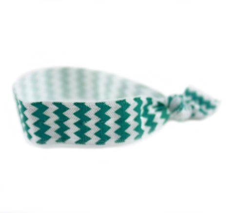 Chevron Aqua Hair Tie (SKU 6084)