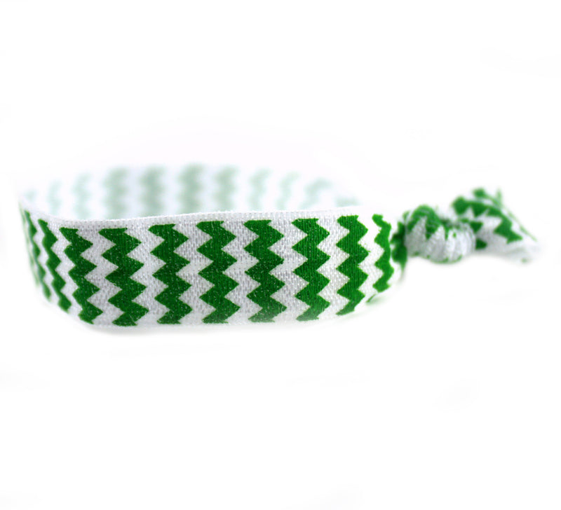 Chevron Green Hair Tie (SKU 6031)