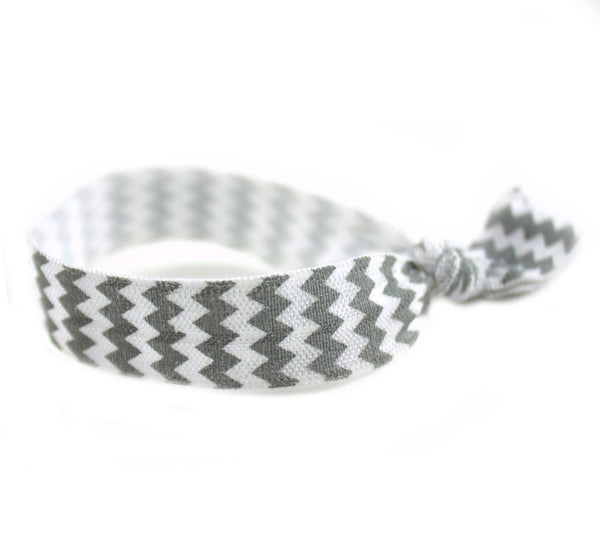 Chevron Grey Hair Tie (SKU 6032)