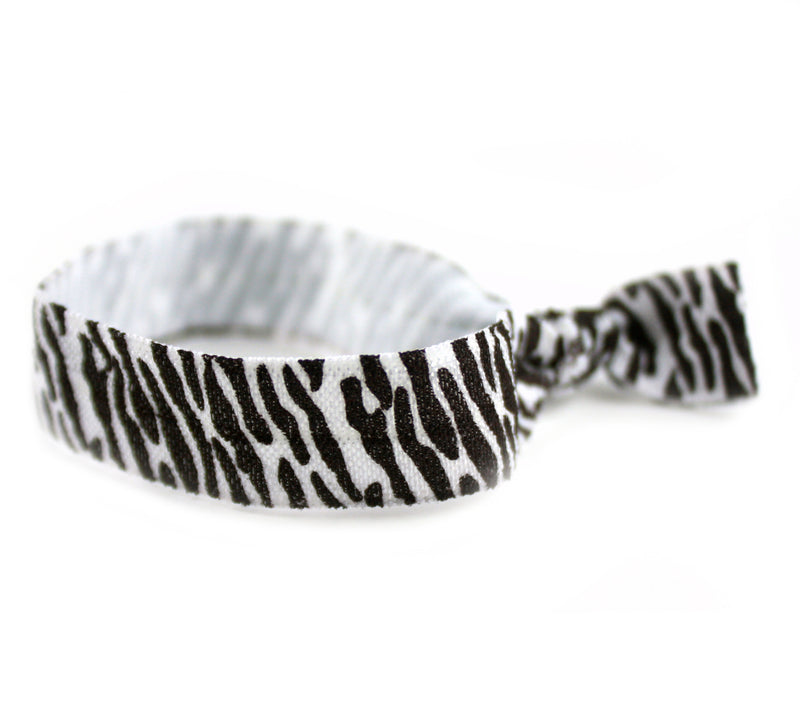 Zebra Craze Brown Hair Tie (SKU 6037)