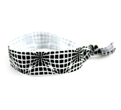 Techno Wave Black White Hair Tie (SKU 6049)