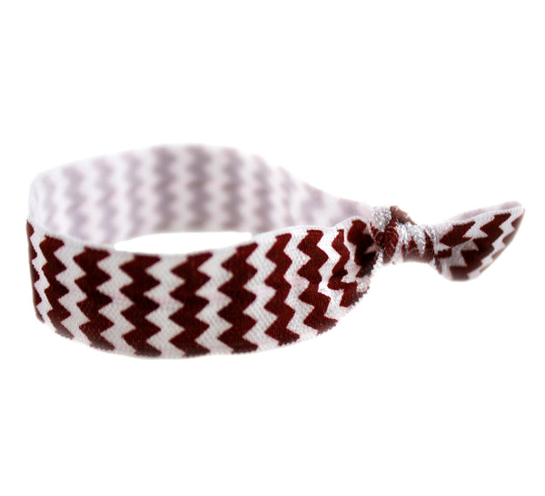 Chevron Brown Hair Tie (SKU 6057)