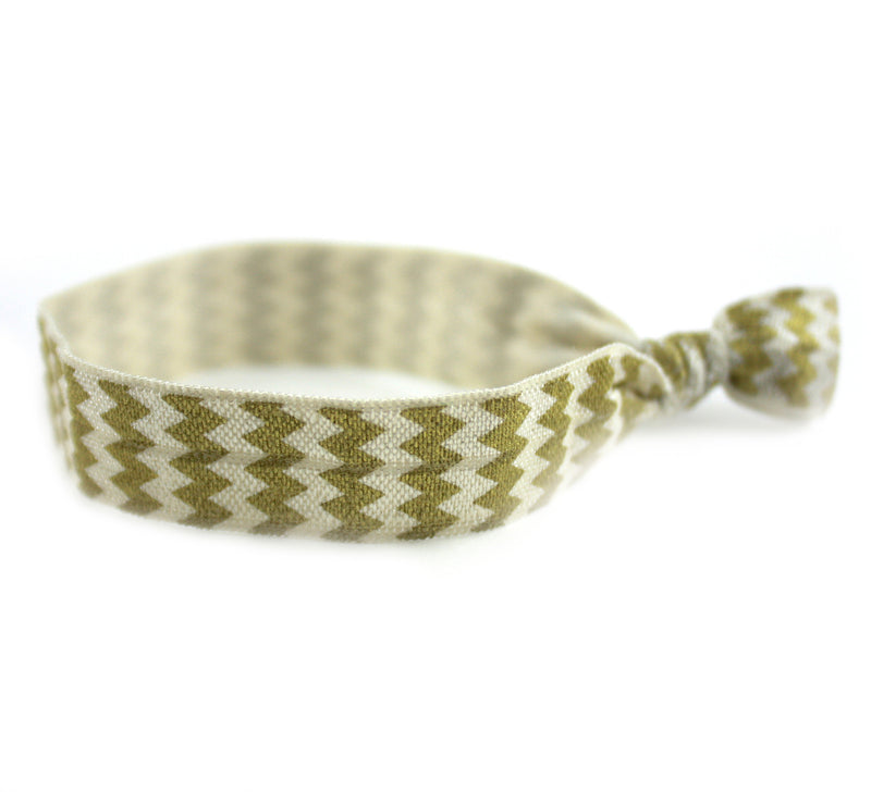 Chevron Gold Hair Tie (SKU 6058)