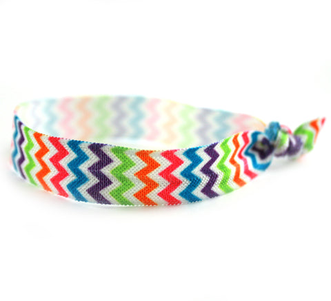 Chevron Rainbow Hair Tie (SKU 6068)