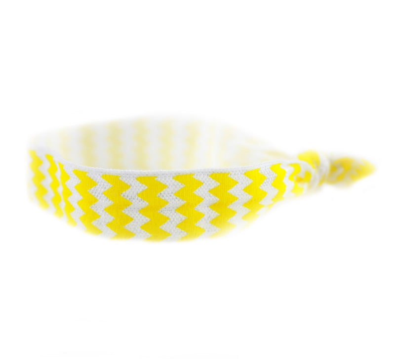 Chevron Yellow Hair Tie (SKU 6073)