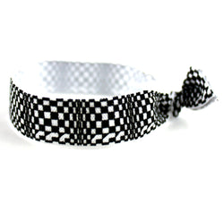 Checkers Black White Hair Tie (SKU 6079)