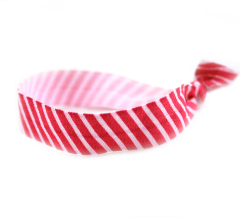 Stripes Pink Hair Tie (SKU 6082)