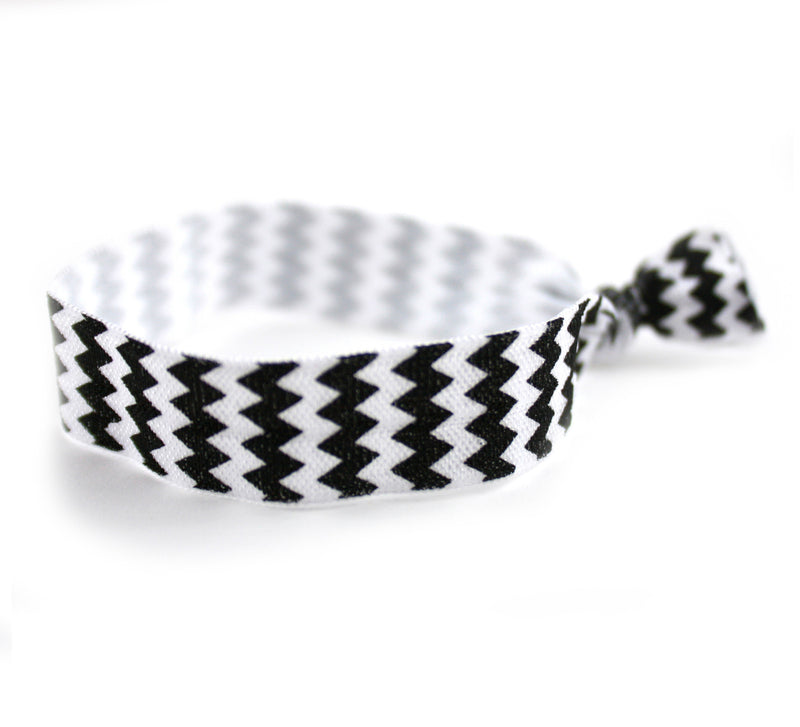 Chevron Black Hair Tie (SKU 6083)