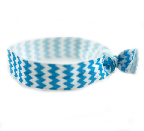 Chevron Teal Hair Tie (SKU 6024)