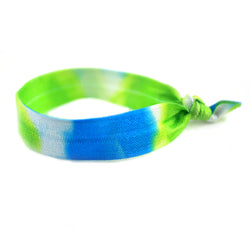 Tye Dye Green Aqua Hair Tie (SKU 6095)
