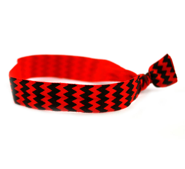 Chevron Red Black Hair Tie (SKU 6100)