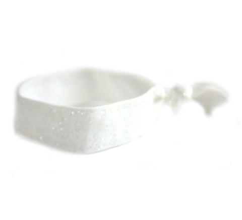 Glitter White Hair Tie (SKU 5054)