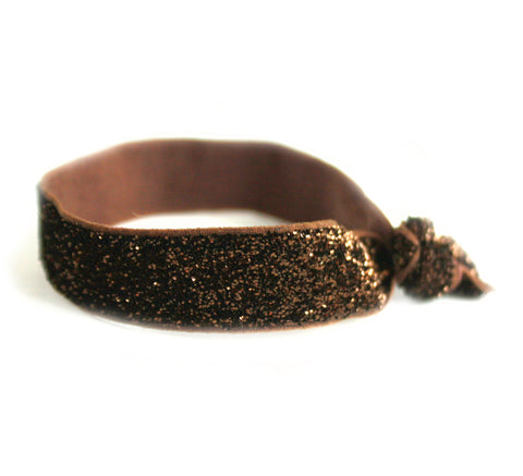 Glitter Brown Hair Tie (SKU 5063)
