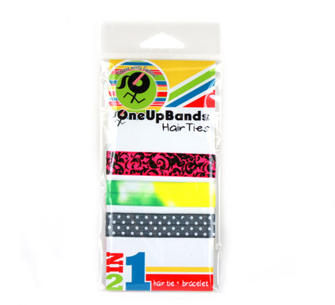 Floral Dots 3 Pack Hair Ties (SKU 7020)