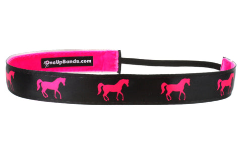 Horses Hot Pink Black (SKU 1119)