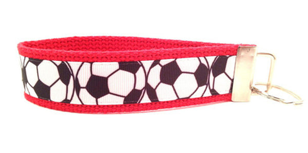 Soccer Balls Red Black Keychain (SKU 1206 KC)