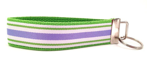 Stripes Lavender Green Keychain (SKU 1247 KC)