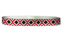 Loopty Loop Tribal Diamonds Red Black