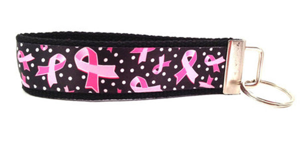 Breast Cancer Awareness Black Keychain (SKU 1053 KC)