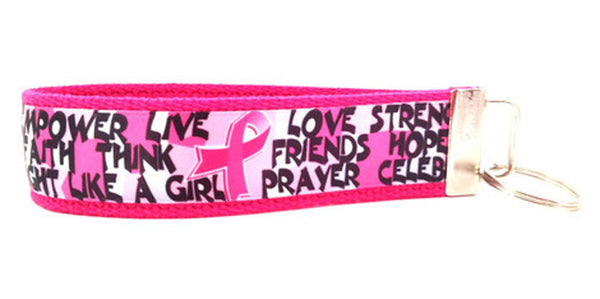 Breast Cancer Awareness Encouragement Keychain (SKU 1056 KC)