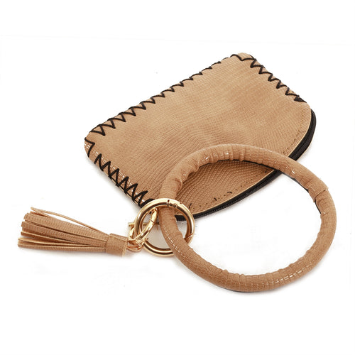 Vegan Leather w/ Key Ring Wallet
