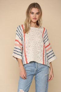 Wide Sleeve Sweater Top
