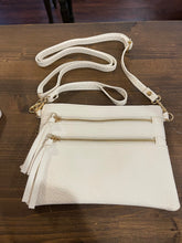 Load image into Gallery viewer, White 3 pocket Crossbody
