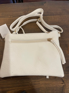 White 3 pocket Crossbody